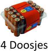 96 Stuks (4 Doosjes a 24 Stuk) Grootverpakking Duracell batterijen AA (LR6)