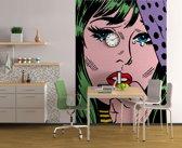 W&G Wand- of plafonddecoratie True Romance // 4-delig fotobehang  // 183 x 254 cm