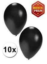 Halloween - Zwarte ballonnen 10 stuks