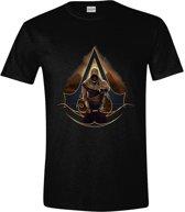Assassin's Creed: Origins - Bayek and Pyramids Men T-Shirt - Zwart - Maat XL