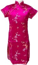 Chinese jurk - Roze - Maat 116/122 (8) - Verkleed jurk - Prinsessen jurk