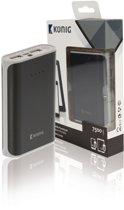 Portable Power Bank 7.500 mAh USB Black