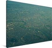 Luchtfoto van Kawasaki in het Aziatische Japan Canvas 60x40 cm - Foto print op Canvas schilderij (Wanddecoratie woonkamer / slaapkamer)