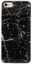 Wicked Narwal   Print Hardcase voor iPhone 8 Marble Zwart