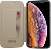 BeHello iPhone X   Xs Book Case with Transparant Back Goud
