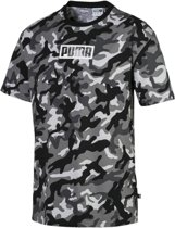PUMA Rebel CAMO Tee Shirt Heren - Puma Black - Maat M