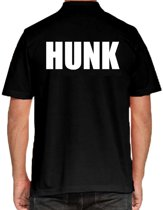 HUNK poloshirt zwart voor heren - HUNK polo t-shirt S