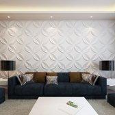 vidaXL 66 x 3D wandpanelen (bloemenmotief) 0.3 m x 0.3 m - 6 m²