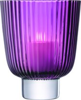 L.S.A. Pleat Windlicht - Glas - 21,5 cm - Heather