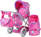 Poppen combi wandelwagen roze