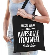 Kadotas This is what an awesome trainer looks like zwart katoen - cadeautas voor trainers