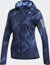 adidas Own The Run Jkt Dames Sportjas - Real Blue/Collegiate Royal/Legend Ink - Maat L