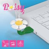 Mustard Desktop USB Luchtverfrisser - Daisy - Wit