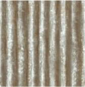 Reclaimed Corrugated Metal grijs/bruin behang (vliesbehang, grijs)