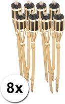 Bamboe tuinfakkels set 8 stuks 61 cm