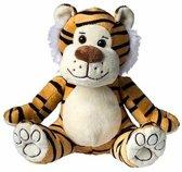 Pluche tijger knuffel 23 cm - knuffeldier