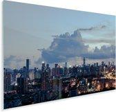 Mooie wolken boven de Chinese stad Shenzhen Plexiglas 60x40 cm - Foto print op Glas (Plexiglas wanddecoratie)
