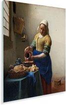 Het melkmeisje - Schilderij van Johannes Vermeer Plexiglas 30x40 cm - klein - Foto print op Glas (Plexiglas wanddecoratie)