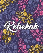 Rebekah: Floral Pink Purple Teacher Journal Planner Notebook Organizer - Daily Weekly Monthly Annual Activities Calendars To Do