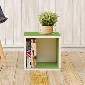 Way Basics Kubussen - Boekenkast - Groen - zBoard - Set van 2