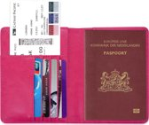 Paspoorthouder / Paspoorthoesje / Passport Wallet - V1 - Roze