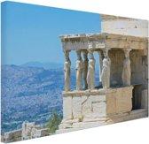 FotoCadeau.nl - Close-up van de Akropolis Canvas 80x60 cm - Foto print op Canvas schilderij (Wanddecoratie)