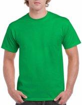 Felgroen katoenen shirt voor volwassenen L (40/52)