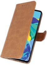 Wicked Narwal | bookstyle / book case/ wallet case Wallet Cases Hoesje voor Huawei P30 Bruin