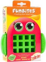 Funbites Groene Vierkantjes Fruitsnijder – 16x15cm   Voor het Snijden van Fruit in Hapklare Stukjes