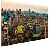 Kathmandu foto Nepal Aluminium 90x60 cm - Foto print op Aluminium (metaal wanddecoratie)