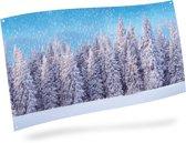 Achtergronddoek sneeuwbos 150x75 cm