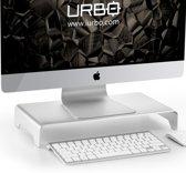 Urbo Viaan Ergonomische Draaibare Monitor Arm | Full-Movement | Ruimte voor kabels | VESA 75/100 | tot 27 inch (68.6 cm) schermen | Installeren met klem of zeilring | Op kantoor, thuis of op gedeelde werkplekken