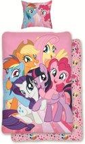 My Little Pony Friends - Dekbedovertrek - Eenpersoons - 140 x 200 cm - Roze