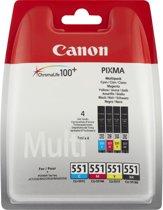 Canon CLI-551 - Inktcartridge / Zwart / Cyaan / Magenta / Geel