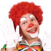 Pruik krullen clown rood