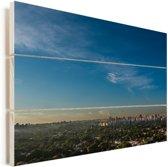 Luchtfoto van de Zuid-Amerikaanse stad São Paulo Vurenhout met planken 120x80 cm - Foto print op Hout (Wanddecoratie)