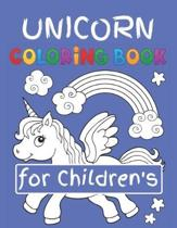 Unicorn Coloring Book for Children's: Featuring Various Unicorn Designs Filled with Stress Relieving Patterns - Lovely Coloring Book Designed Interior