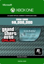 Grand Theft Auto V - Megalodon Shark Card $ 8.000.000 In-Game Virtual Currency - Xbox One