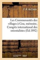 Les Communaut s Des Villages Goa, M moire, Congr s International Des Orientalistes