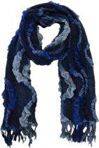 Sjaal Ruffles blauw tinten