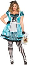 Alice in Wonderland Plus- Size  Kostuum| Tea Party Alice | maat  XXL ( 46 -50 )