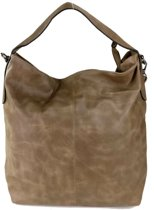 International Hand & Omhang Schoudertas Fashion Tas Taupe Bruin Trendy