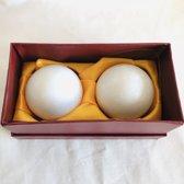 meridiaankogels van witte kleur marmer 5cm
