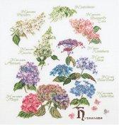 Thea Gouverneur Borduurpakket 3067 Hortensia - Linnen stof