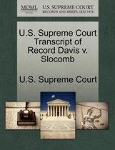U.S. Supreme Court Transcript of Record Davis V. Slocomb