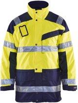 Blåkläder 4426-1997 Parka (Uitneembare voering) High Vis Geel/Marineblauw maat XXXL