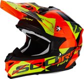 Scorpion Crosshelm VX-15 Evo Air Akra Black/Orange/Yellow-M