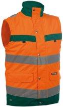 Dassy Bilbao Hoge zichtbaarheidsbodywarmer Oranje/Groen maat XS