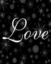 Love Snowflakes Stars Dark Sky School Comp Book 130 Pages