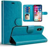 Chique Lederen hybride beschermhoes voor iPhoneXS MAX | blauw